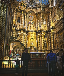 The altar of Iglesia de la Compañia de Jesús
