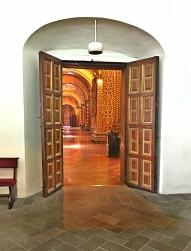 Entranceway into Iglesia de la Compañia de Jesús