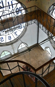Inside the clock tower of the Basílica del Voto Nacional.
