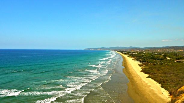 Olón beach.